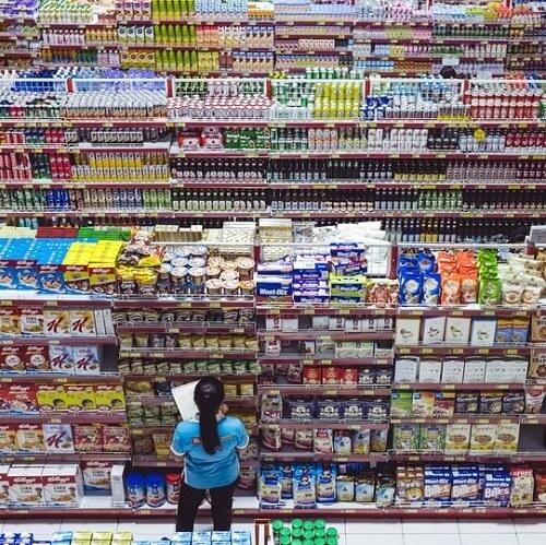 Supermarché et produits transformés