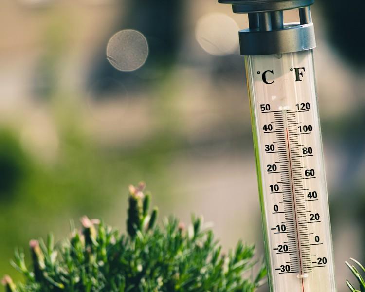 thermomètre en extérieur
